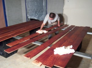 Applying Tung Oil